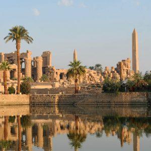 Karnak temple at dawn